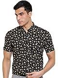 Arihant Printed Self Design 100% Cotton Half Sleeves Regular Fit Formal Shirt for Men