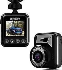 DashCam, Byakov AutoKamera Full HD 1920x1080p 1.5inch LCD Bildschirm Mini Dash Cam für Auto 170 Grad Winkel Auto Dash Cam mit G-Sensor, Loop-Aufnahme, WDR, Motion Detection