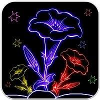 Zeichnen Sie Glow Flowers