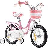 RoyalBaby Bicicleta para niños niña 3-9 años Little Swan 12 14 16 18 Pulgadas Ruedas auxiliares Bicicletas Infantiles Bicicle