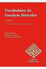 Vocabulaire de l'analyse littéraire Broché