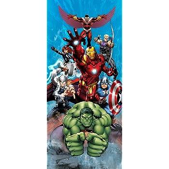 24,99 Fototapete Tapete Marvel The Avengers Iron Man Hulk Thor Foto 90 x 202 cm