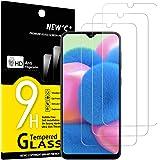 NEW'C 3 Unidades, Protector de Pantalla para Samsung Galaxy A30s, A40s, Antiarañazos, Antihuellas, Sin Burbujas, Dureza 9H, 0