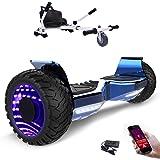 MARKBOARD 8,5zoll SUV Bluetooth Hoverboard HummerElektro Scooter mit Off Road Reifen mit Hoverkart, Gokart, Sitzscooter, APP, Musik Lautsprecher