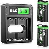 EBL 2800mAh Batteria per Xbox One, Pile e Set per Caricabatterie Adatta per Xbox One, Xbox One S, Xbox One X, Xbox One Elite