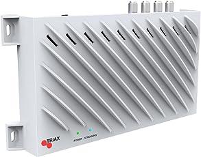 Triax TSS 400 SAT>IP Converter (4 SAT-Tuner, 4 Teilnehmer, Netzwerkstreaming, Ethernet) weiß