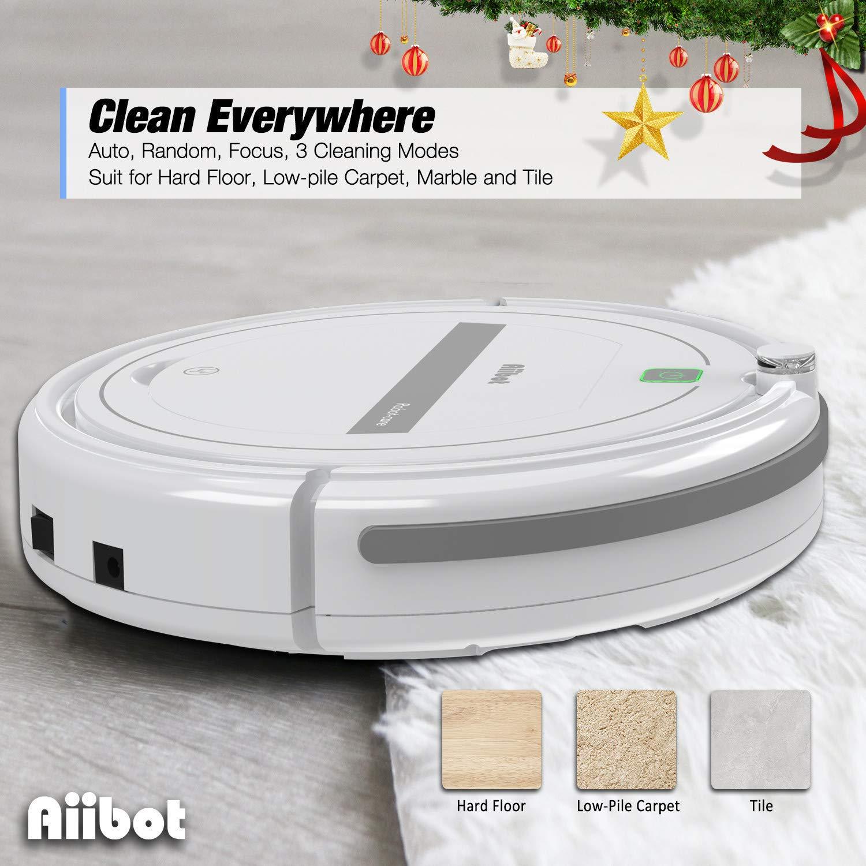 design del corpo sottile Bianco-288 pulizia i peli di animali domestici Aiibot aspirapolvere robot con forte aspirazione basso rumore ottimo per pavimenti duri e moquette