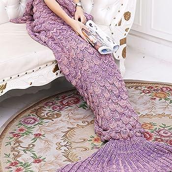 Meerjungfrau Decken Amyhomie Handgemachte Meerjungfrau Strickmuster