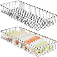 mDesign rangement couverts en métal pour tiroir (lot de 2) – range couverts pour ustensiles de cuisine et autres objets…