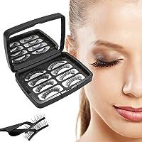 3D Magnetische Wimpern, Künstliche Wimpern Set, Wiederverwendbare Kunstfaser Magnetische Magnet Wimpern, Dual Magneten Magnetic False Eyelashes