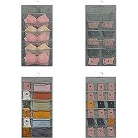 Lirex Rangement à Suspendre, 2-Pack Cintre Organisateur Organisateur de Cintre de Soutien-Gorge Oxford Placard en Tissu…