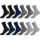 L&K Lot de 12 femme homme chaussettes sportive chaussette en coton noir blanc 92216