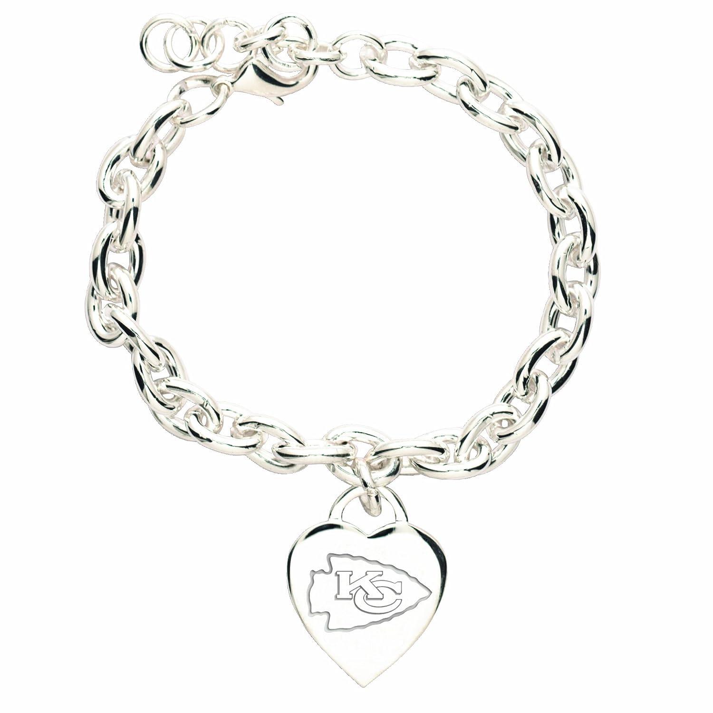 "NFL Atlanta Falcons Heart Charm Bracelet 5"" x 2"" Amazon"