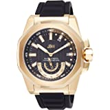 JBW Luxury Men's Delmare Diamond & Slip-Resistant Silicone Bracelet Watch 5ATM - J6359D