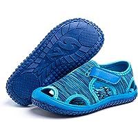 Boys Girls Sandals Kids Summer Breathable Walking Sandal Anti Slip Infant Toddler Beach Shoes Pink Purple Blue Grey…