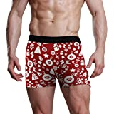 REFFW Bulge Pouch Mens Briefs Stretch Boxer Trunk Art Christmas Pattern Tree Snowflake Gift