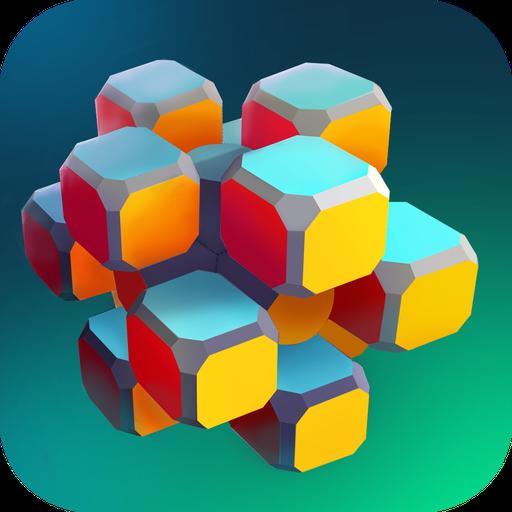 Super Twisty - Geometry Block Puzzle: Geometrie Spiele, wo man Gedächtnis, logisches Denken, Aufmerksamkeit braucht, um Rätsel zu lösen, beginne Denkspiele und Gedächtnisspiele, bastel Figuren -