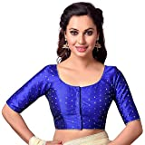 Xomantic Fashion Women's Silk Readymade Saree Blouse
