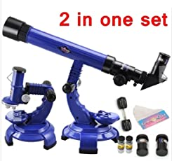 Vortex Toys 2 In 1 Science Nature Educational Learning Telescope Microscope Set (Multicolour)