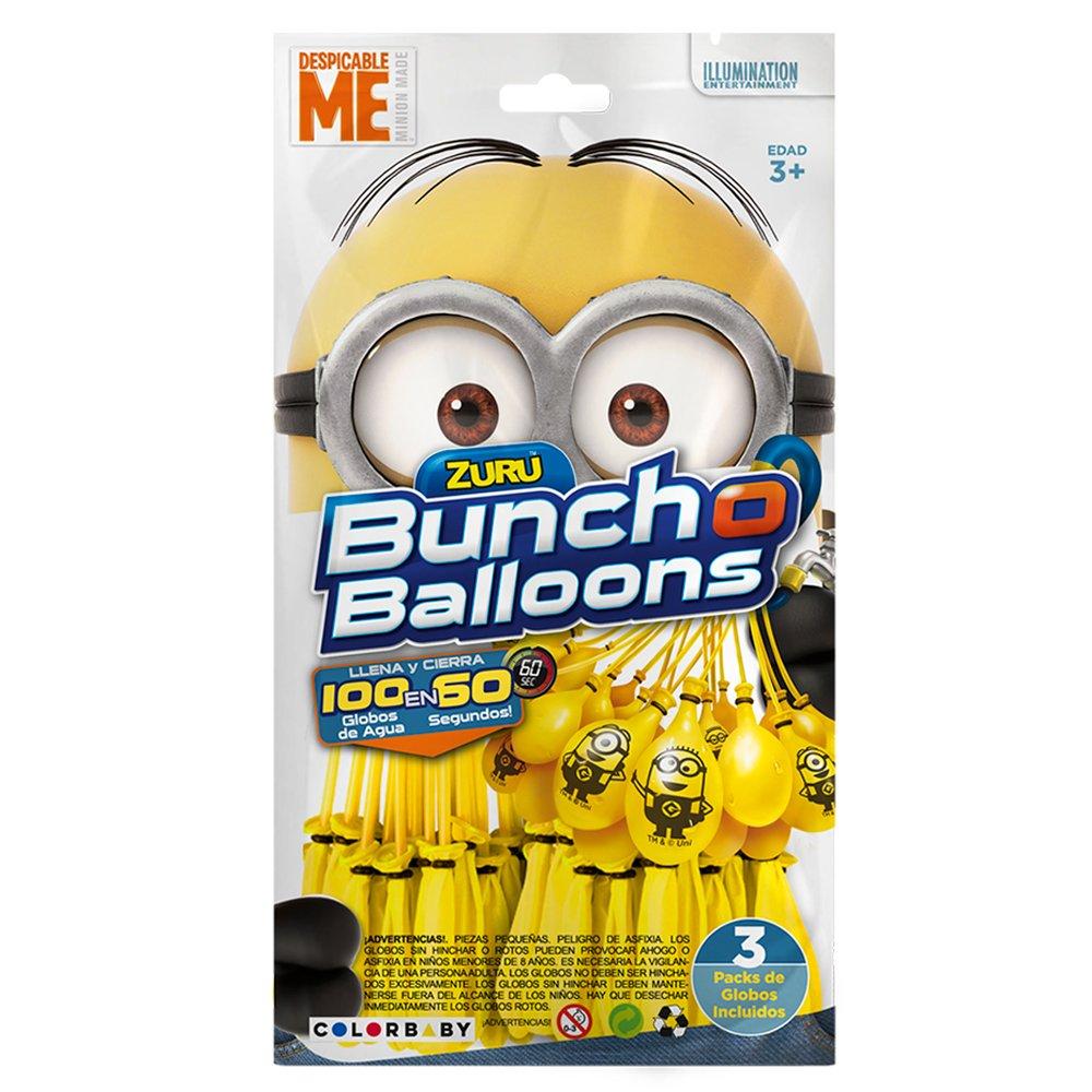 X-Shot – Bunch O Balloons Pack LOS MINIONS 3 manojos con 100+5 globos (ColorBaby 48011)