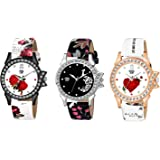 Swadesi Stuff Multi Color Analogue Watch for Women & Girls - Combo of 3 Watches