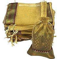 KRIWIN Unisex-adult Potli (Set of 50, Gold)