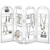 THEE Rangement de Bijoux Pliable en Acrylique Organisateur pour Boucles d'oreilles Collier Bracelet Support de Présentation