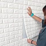 3D PE-schuim wandbehang, steenlook, zelfklevend, zacht, anti-botsing, wandpanelen, baksteen, steenlook, wanddecoratie voor ba