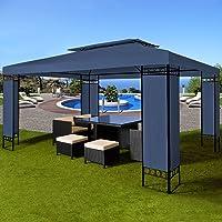 Tonnelle de jardin ELDA - 3x4m - Pavillon de réception - Tente - Coloris au choix