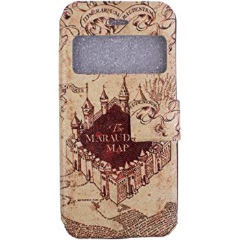 info for cfb4c 24fb8 Harry Potter Flip Stand iPhone 5 Case - Hogwarts Marauder Map Leather Cover  Case for Apple iPhone 5 5S