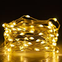 Eambrite LED Fairy Lights Battery Operated with 8 Modes 50 LEDs String Lights Copper Wire Light Waterproof for Outdoor…