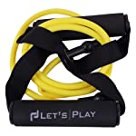Letsplay Resistance Bands, Toning Tubes with Foam Handles, Exercise Cords for Exercise Fitness Pilates Strength Training