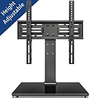 FITUEYES 27''-55 inch TV Stand with Anti-Tip Strap Tabletop Base Mount-6 Levels Height Adjustable Holds 40kgs/88lbss Max VESA 400x400 TT103701GB