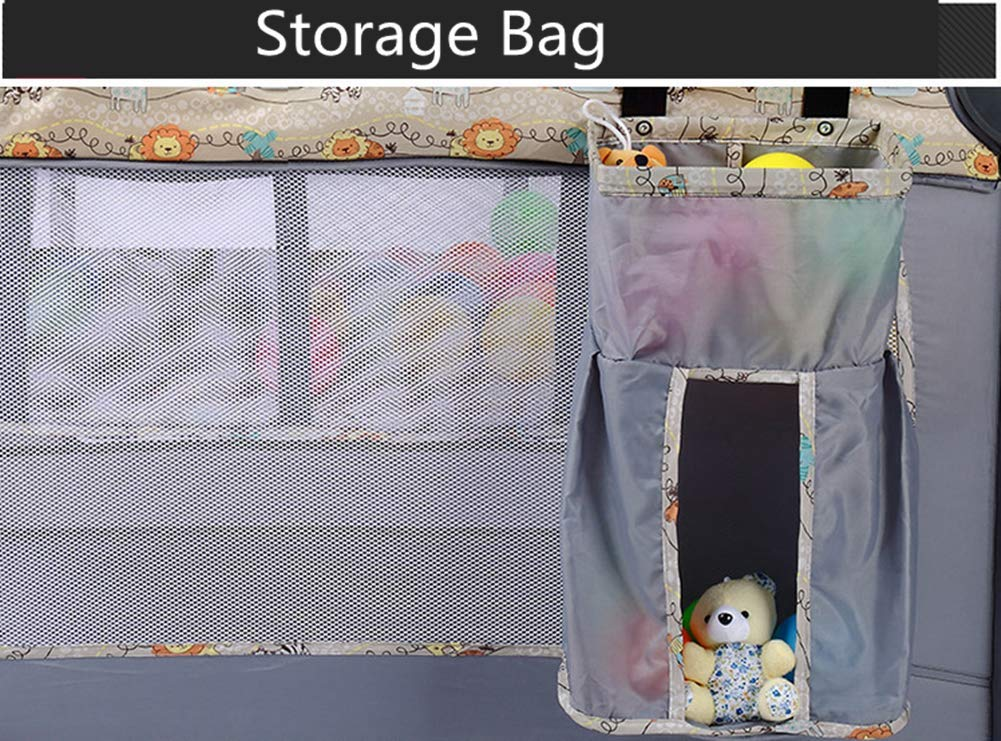 KLI Portable Folding Newborn Infant Baby Crib Baby Nest Toddler Cotton Music Game Nursery Travel Bed For Baby, Palace Mosquito Net 100X70x74.5Cm KLI 1.Shipping list: crib, coir mattress, shelf, diaper table, rotating music stand, arched toy frame, travel storage bag . size: 100x70x74.5cm 2. Application age: 0-4 years old. 3. Weight duration: 50 kg. 5