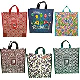 DOUBLE R BAGS Canvas Shopping Bag (Set of 6) (Multicolored_DD-0606)