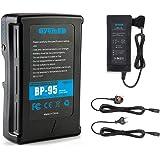 Oyomba 95Wh (6600mAh) BP-95 V-Mount/V-Lock Batería y Adaptador de Cámara Compatible con Videocámara Sony Cámara Videocámara D
