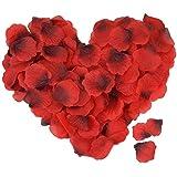 ASANMU Petali di Rosa, 3000 Pezzi Petali di Fiori Finti Rossa, Petali di Rose Rosse Regali Decorazioni per San Valentine Deco