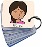 BSL for Kids Sofia Feelings & Emotion Faces Sen Pack Card Keyring (Autism, AAC)