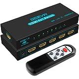 Switch HDMI 4K SGEYR Switch HDMI 5 Entrées 1 Sorties Commutateur HDMI 5x1 Selector HDMI Switcher Prend en Charge 4K@30Hz 3D 1