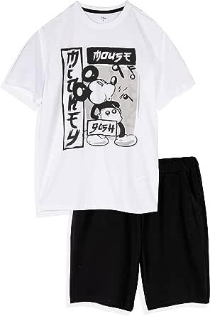 Disney Licensed Original Sleepwear. Mickey Mouse Men's, Teenagers Sleeping T-Shirt and Shorts Pyjamas/Loungewear Set. S-XL
