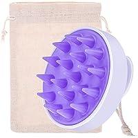 Silicone Brosse de Masseur Tête Shampooing Brosse pour Cheveux Mouillés et Secs, Masseur du Cuir Chevelu pour Femmes…