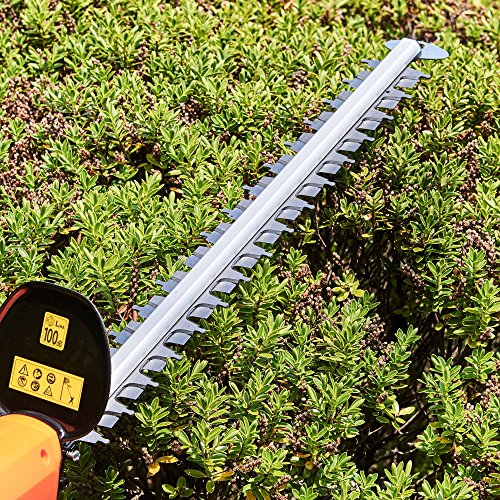 "VonHaus Telescopic Extension Pole Hedge Trimmer 600W with Adjustable Head, 45cm (17"") Blade & Blade Cover"