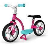 Smoby - 770123 - Draisienne Confort - Selle Réglable + Roues Silencieuses - Rose