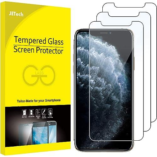 """JETech Pellicola Protettiva compatible iPhone 11 Pro, compatible iPhone Xs, compatible iPhone X 5,8"""" in Vetro Temperato, Pacco da 3"""