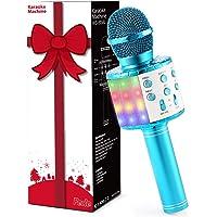 Fede Microfono Karaoke Bluetooth Wireless per Bambini, Karaoke Portatile con Luci LED Multicolore per Cantare, Funzione…