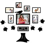 PAPER PLANE DESIGN Family Tree Collage Photo Frames for Wall Decor Set (Style-5)