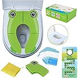 Adaptador para inodoro para niños, portátil, plegable, para viaje, almohadillas de silicona antideslizantes, apto para niños