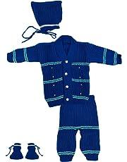 The Creators Unisex Sweater Set (Blue, 0-6 Months)