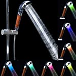 Duş başlığı 3 renk değiştiren LED Handduschen Wandow el duşu negatif Ionic çift Filtration sprey sprinkler Handheld ve...