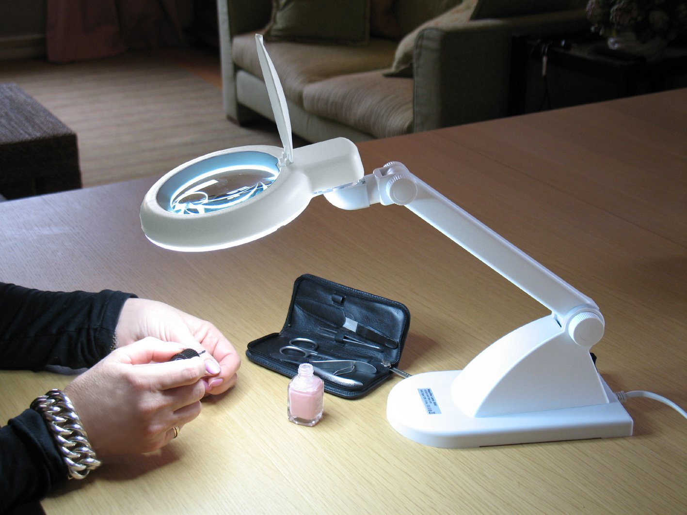 Velleman Daylight Lampada con Lente d' ingrandimento, Neon Brillante